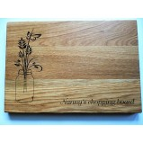 Bouquet Personalised Chopping Serving Board
