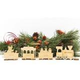 Peesonalised Family Train Christmas Tree Decor