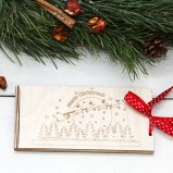 Christmas Wooden Money Envelope