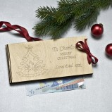 Christmas Wooden Money Gift Envelope