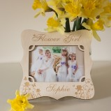 Personalised Flower Girl Photo Frame