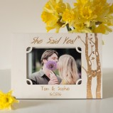 """She said Yes!"" Personalised Photo Frame"