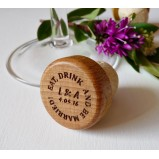 Eat Drink & Be Married Personalised Wine Bottle Stopper