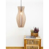 Hourglass Wooden Ceiling Light