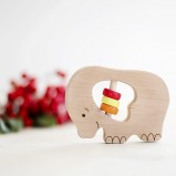Elephant Wooden Rattle