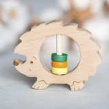Hedgehog Wooden Rattle