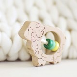 Sheep Wooden Rattle
