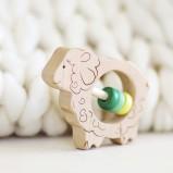 Sheep Wooden Rattle