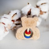 Teddy Bear Wooden Rattle