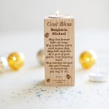 Personalised Christening Tealight Candle Holder
