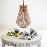 Milan  Wooden Ceiling Light
