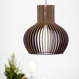 Modern Black Wooden Ceiling Light
