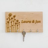 Flowers Personalised Key Organiser