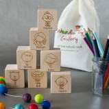 Personalised Family Wooden Blocks