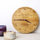 Personalised Oak Wood Clock