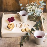 Personalised  Tray with hearts