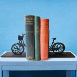 Vintage Ladies Bike Wooden Bookends